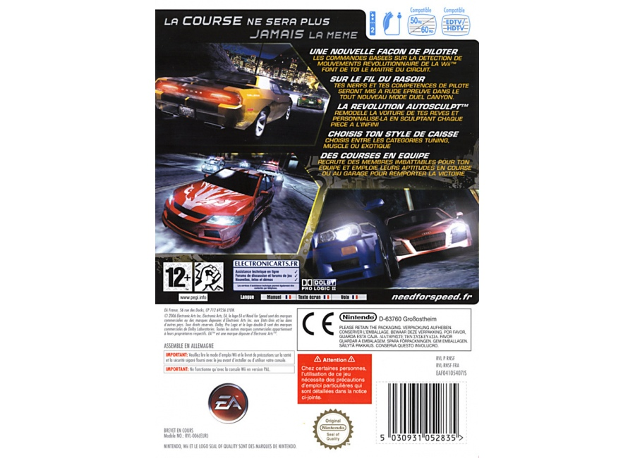 jeux vid o need for speed carbon wii d 39 occasion. Black Bedroom Furniture Sets. Home Design Ideas