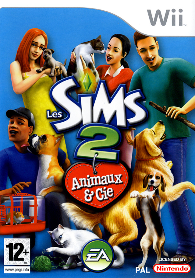 jeux vid o les sims 2 animaux compagnie wii d 39 occasion. Black Bedroom Furniture Sets. Home Design Ideas