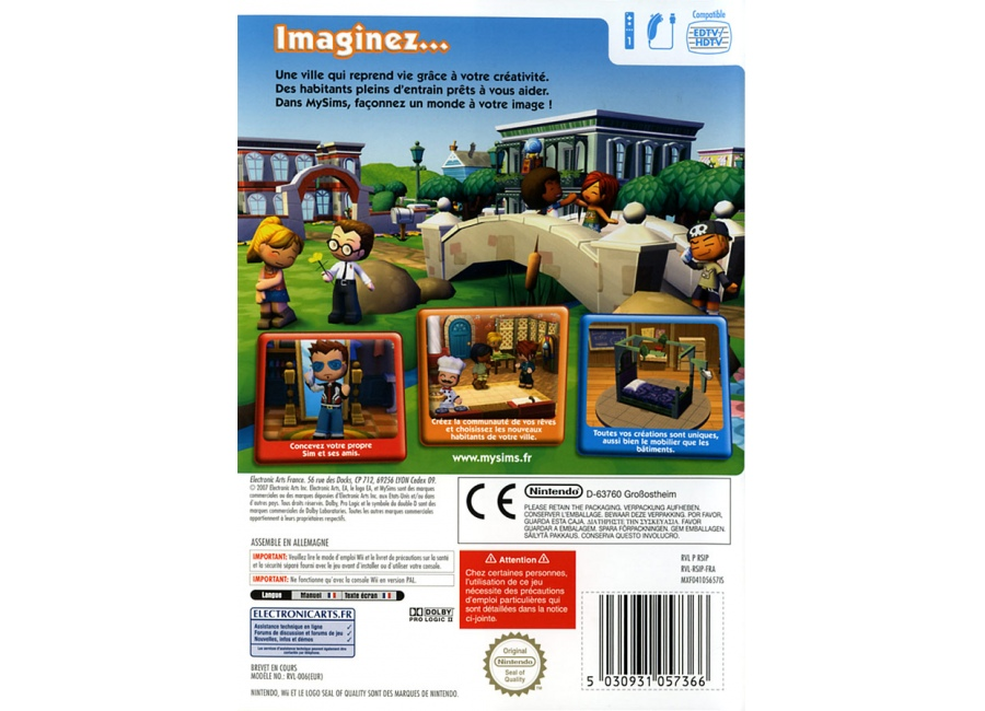 jeux vid o mysims wii d 39 occasion. Black Bedroom Furniture Sets. Home Design Ideas