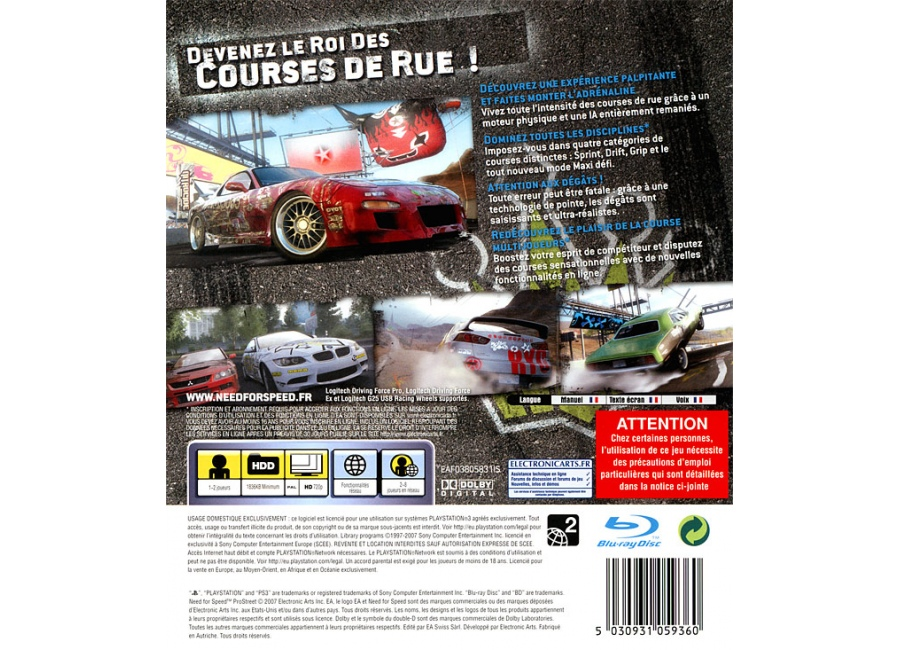 Jeux Video Need For Speed ProStreet Playstation 3 PS3