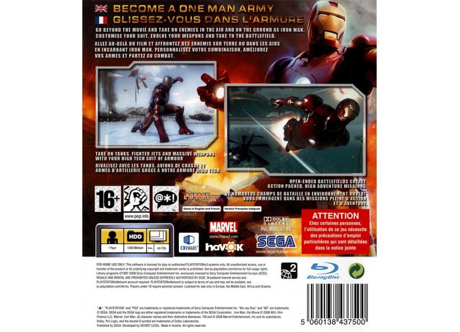 Jeux vid o iron man playstation 3 ps3 d 39 occasion - Jeux de iron man 3 gratuit ...