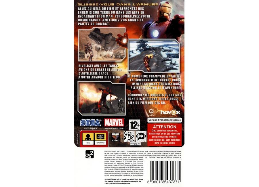 Jeux vid o iron man playstation portable psp d 39 occasion - Jeux de iron man gratuit ...