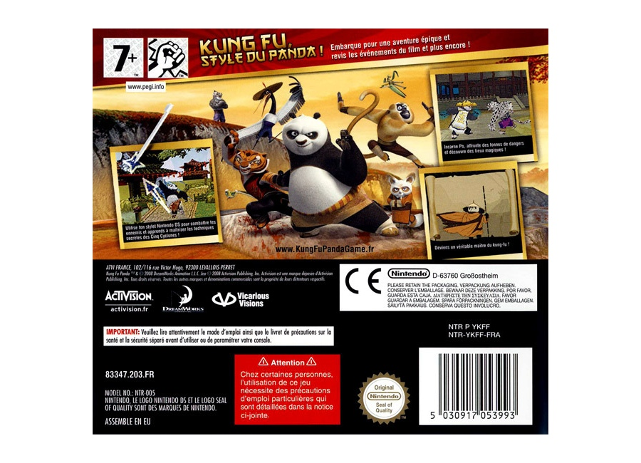jeux vid o kung fu panda ds d 39 occasion. Black Bedroom Furniture Sets. Home Design Ideas