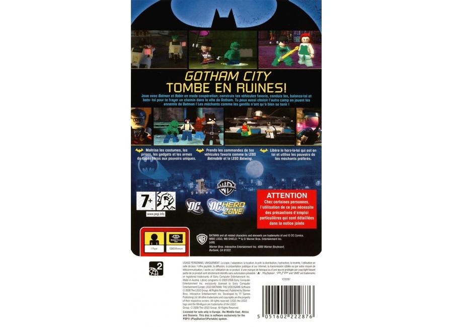 Jeux vid o lego batman le jeu video playstation portable - Jeux lego batman 2 gratuit ...