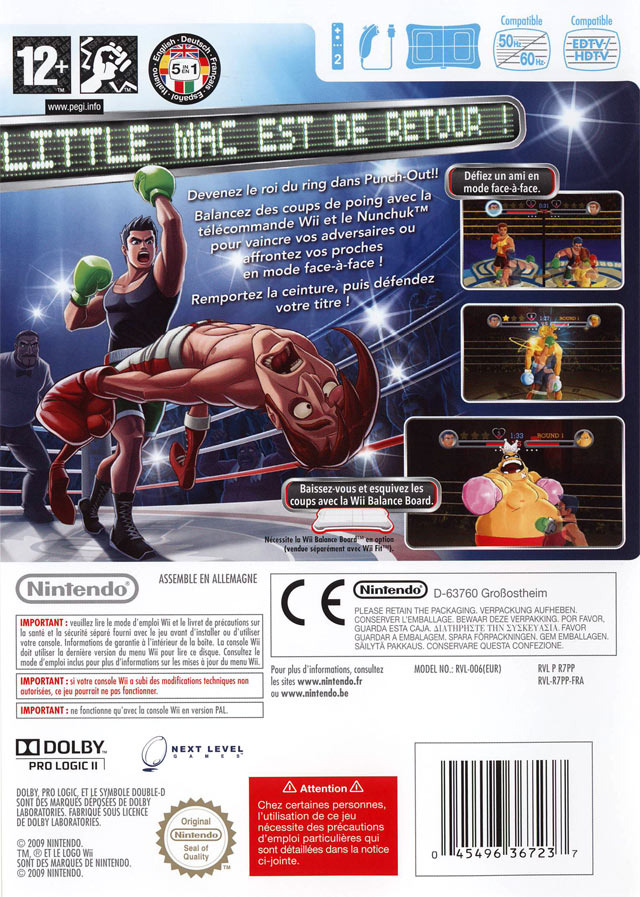 jeux vid o punch out wii d 39 occasion. Black Bedroom Furniture Sets. Home Design Ideas