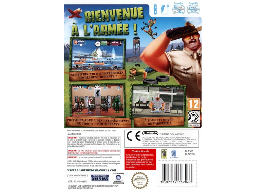 jeux vid o l 39 acad mie des rangers wii d 39 occasion. Black Bedroom Furniture Sets. Home Design Ideas