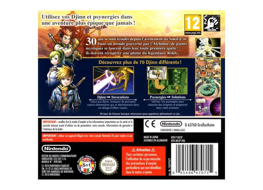 Jeux Vidéo Golden Sun Obscure Aurore DS
