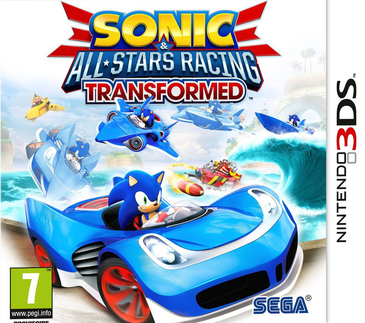 jeux vid o sonic all stars racing transformed 3ds d 39 occasion. Black Bedroom Furniture Sets. Home Design Ideas