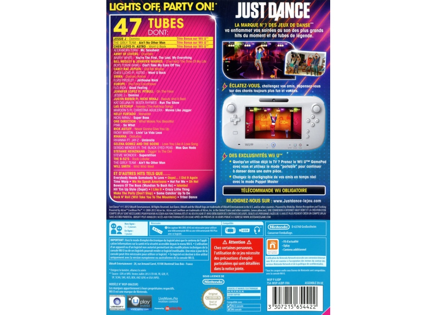 jeux vid o just dance 4 wii u d 39 occasion. Black Bedroom Furniture Sets. Home Design Ideas