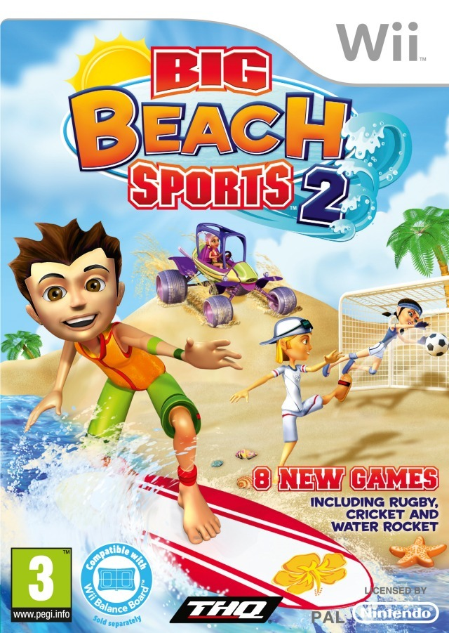 jeux vid o big beach sports 2 wii d 39 occasion. Black Bedroom Furniture Sets. Home Design Ideas