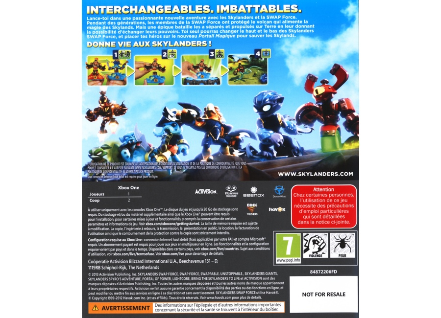 jeux vid o skylanders swap force xbox one d 39 occasion. Black Bedroom Furniture Sets. Home Design Ideas