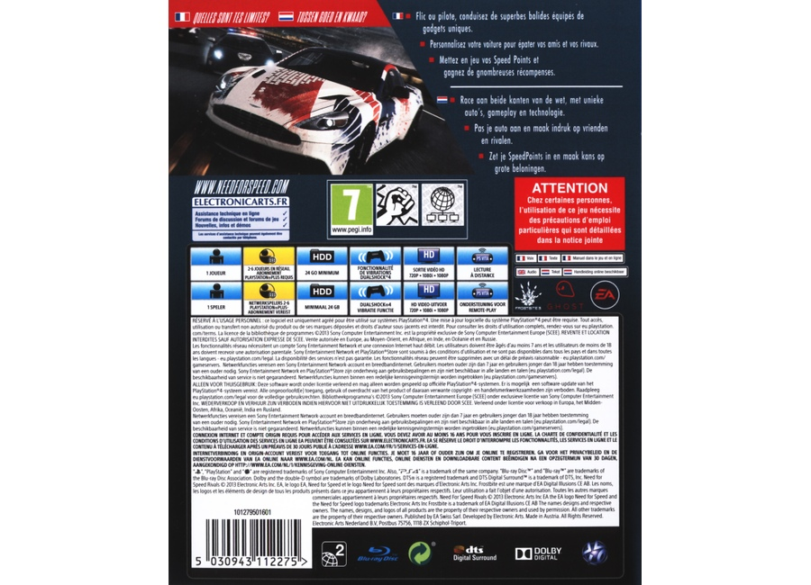 Jeux Vidéo Need for Speed Rivals Playstation 4 (PS4) d'occasion