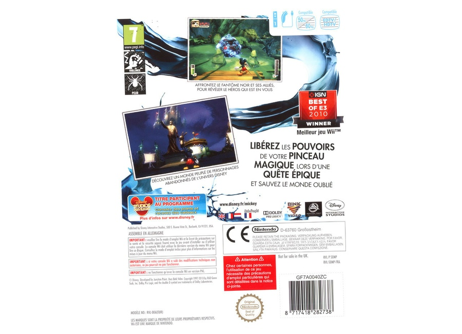 jeux vid o disney epic mickey wii d 39 occasion. Black Bedroom Furniture Sets. Home Design Ideas