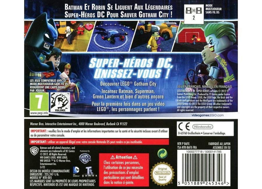 Jeux vid o lego batman 2 dc super heroes ds d 39 occasion - Jeux lego batman 2 gratuit ...