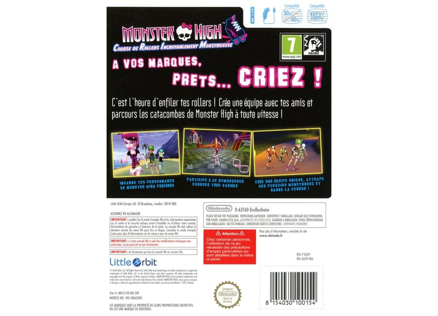 Jeux vid o monster high course de rollers incroyablement - Jeux monster high roller ...
