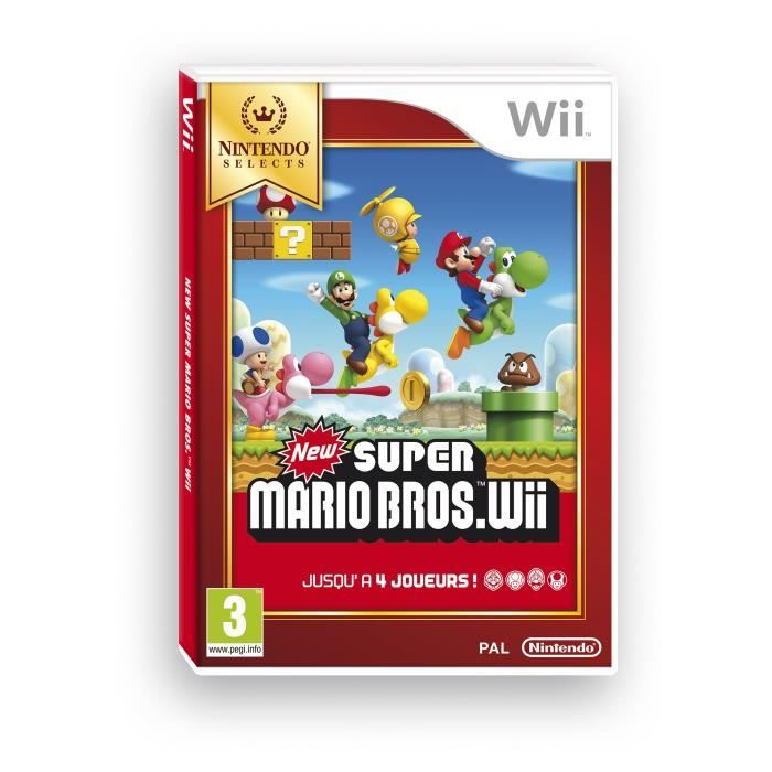 jeux vid o new super mario bros wii edition selects wii d 39 occasion. Black Bedroom Furniture Sets. Home Design Ideas