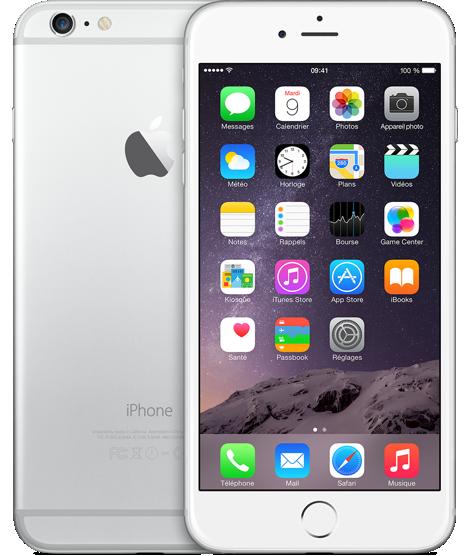 smartphones apple iphone 6 plus argent 64 go d bloqu d. Black Bedroom Furniture Sets. Home Design Ideas