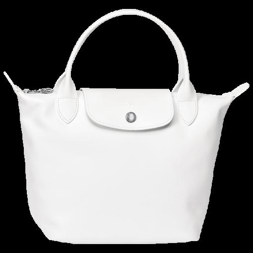 longchamp cuir blanc