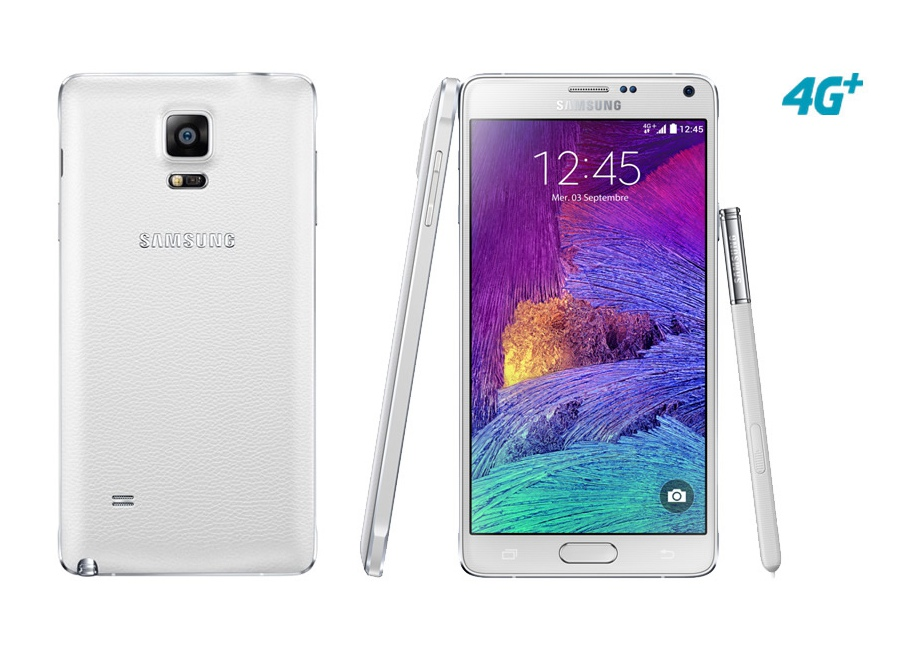 smartphones samsung galaxy note 4 blanc 32 go d bloqu d 39 occasion. Black Bedroom Furniture Sets. Home Design Ideas