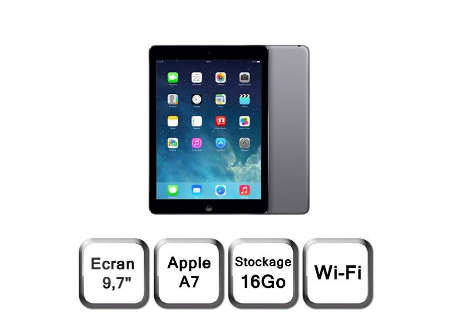 tablette apple ipad air 2 16 go gris non d 39 occasion. Black Bedroom Furniture Sets. Home Design Ideas