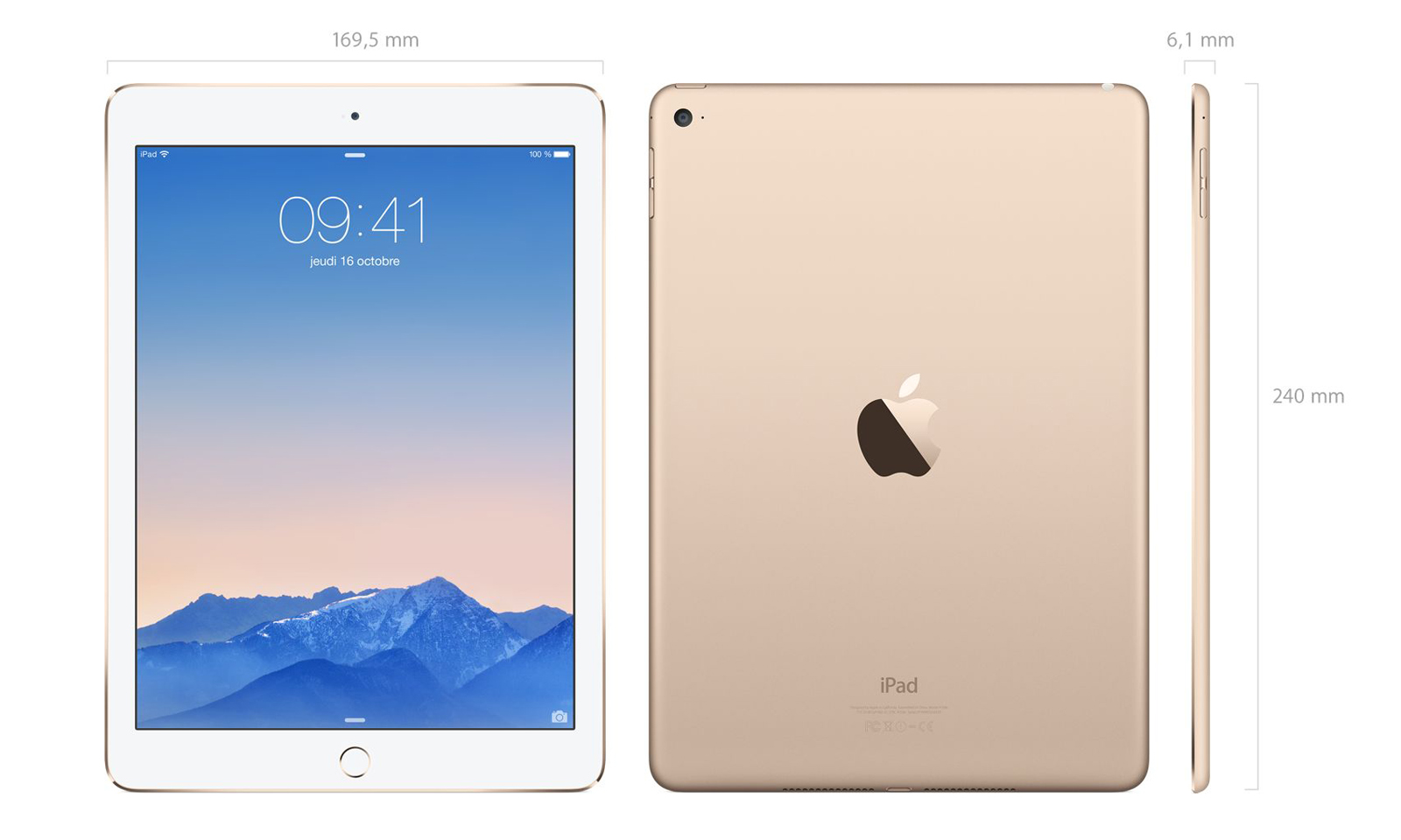 tablette apple ipad air 2 64 go or non d 39 occasion. Black Bedroom Furniture Sets. Home Design Ideas