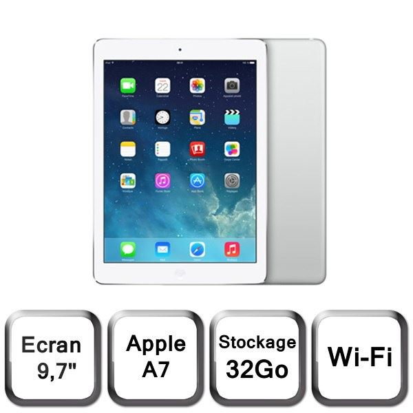 tablette apple ipad air 32 go wifi blanc non d 39 occasion. Black Bedroom Furniture Sets. Home Design Ideas