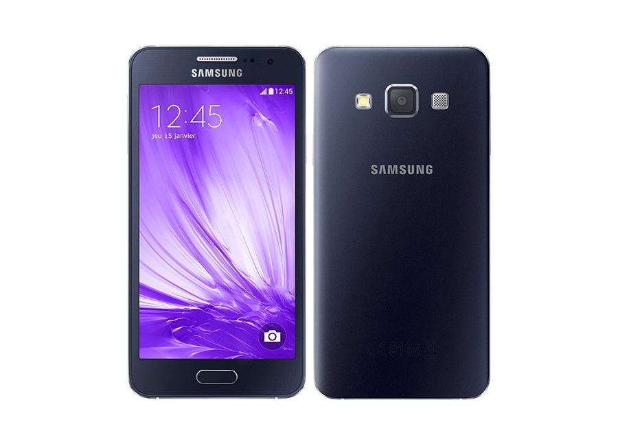 smartphones samsung galaxy a3 noir 16 go d bloqu d 39 occasion. Black Bedroom Furniture Sets. Home Design Ideas