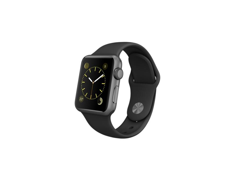 montre intelligente apple watch sport 38 mm noir a1553 d 39 occasion. Black Bedroom Furniture Sets. Home Design Ideas