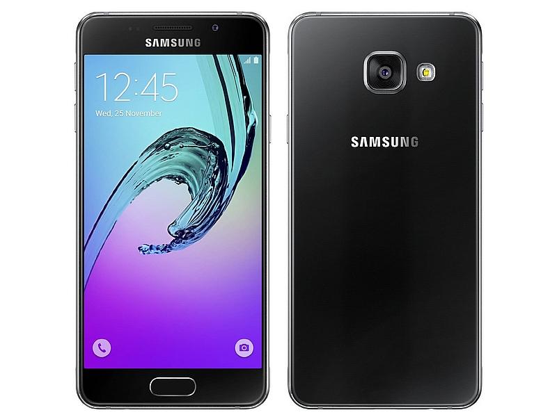 smartphones samsung galaxy a3 noir 16 go orange d 39 occasion. Black Bedroom Furniture Sets. Home Design Ideas