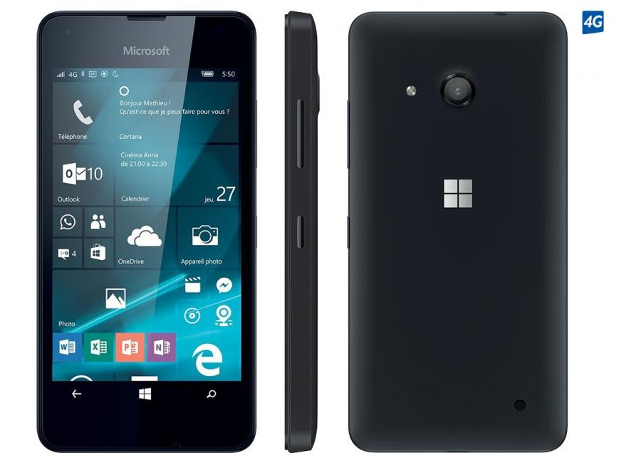 smartphones microsoft lumia 550 noir 8 go d bloqu d 39 occasion. Black Bedroom Furniture Sets. Home Design Ideas