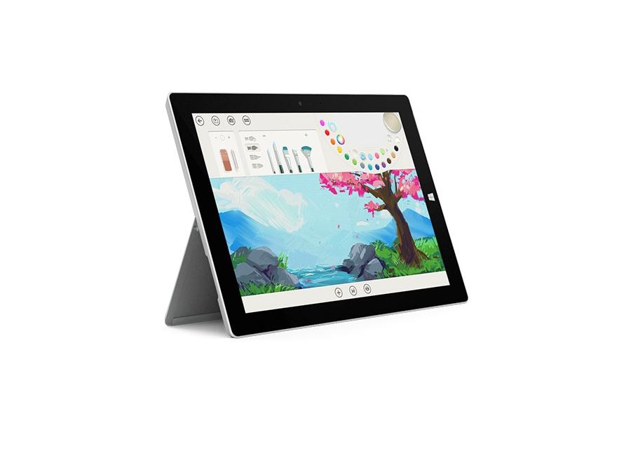 tablette microsoft surface 3 noir 64 go ssd non d 39 occasion. Black Bedroom Furniture Sets. Home Design Ideas