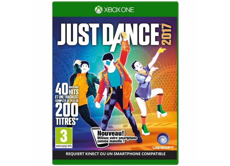 jeux vid o just dance 2017 xbox one d 39 occasion. Black Bedroom Furniture Sets. Home Design Ideas