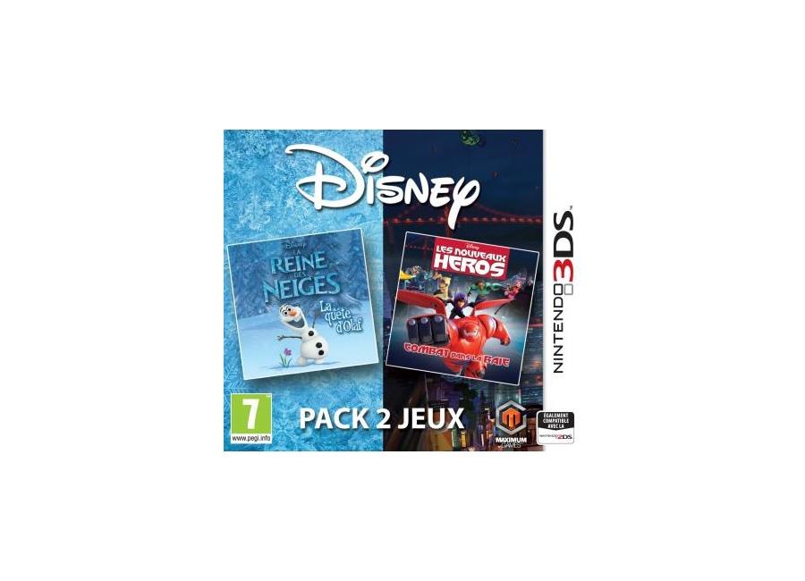 Jeux vid o disney pack 2 jeux la reine des neiges la qu te d 39 olaf et les nouveaux h ros combat - Jeux reine des neige en ligne ...
