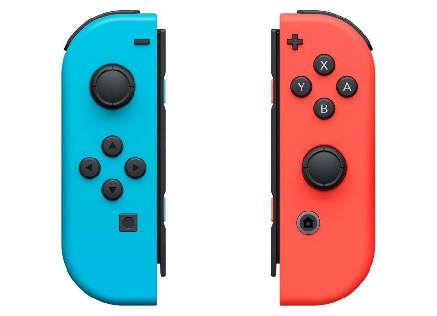 acc de jeux vid o nintendo switch paire joy con bleu rouge d 39 occasion. Black Bedroom Furniture Sets. Home Design Ideas