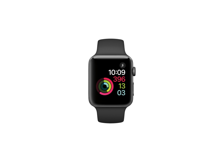 montre intelligente apple apple watch serie 3 42 mm gris. Black Bedroom Furniture Sets. Home Design Ideas