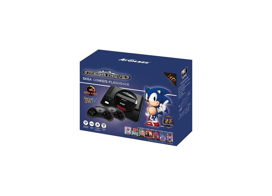 Console ATGAMES SEGA Mega Drive Genesis Flashback Noir + 2 ...